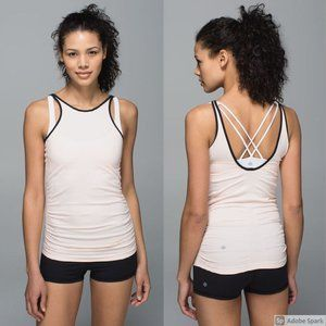 Lululemon Heathered Butter Pink In The Flow Tank